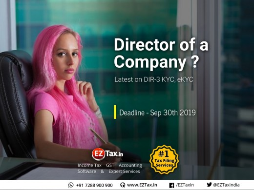 Director KYC eKYC DIR-3 Deadline Sep 30th 2019