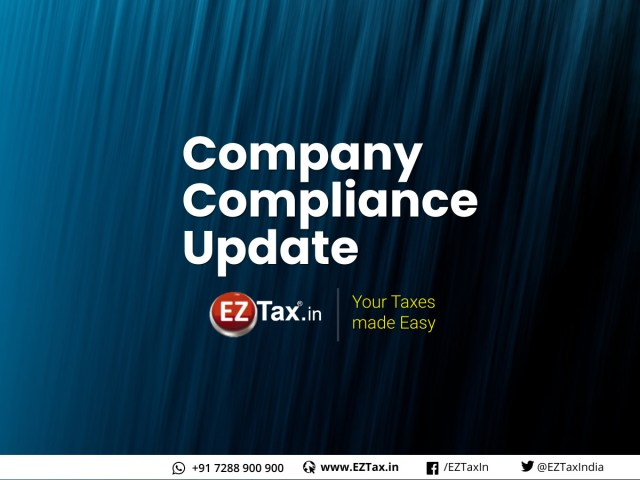 Company Compliance, MCA Update - EZTax.in