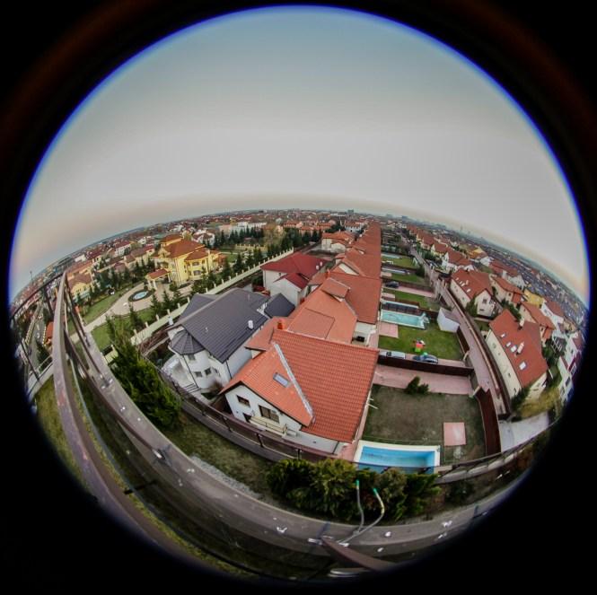 Fotografia de peisaj, obiectiv fisheye, 8mm