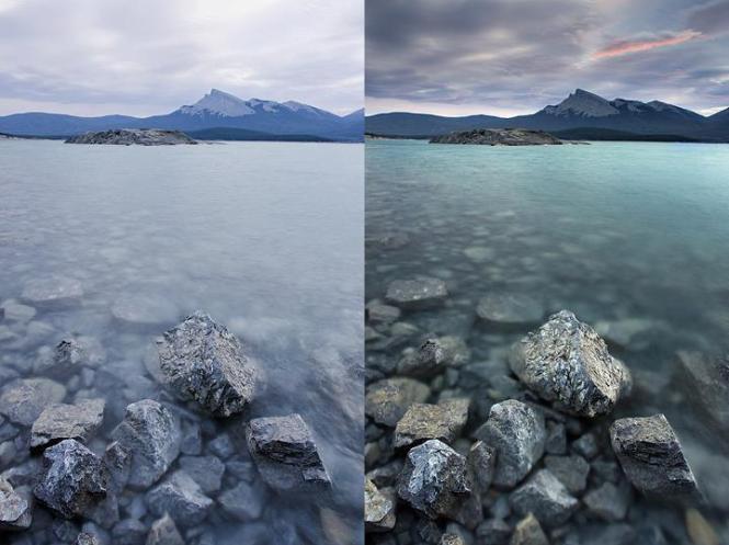 Efect filtru polarizare