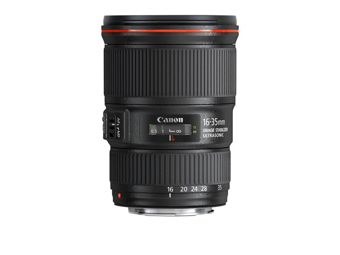 Obiectiv Canon ultra-wide EF 16-35mm f/4L