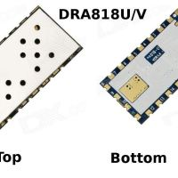 Description des modules UHF et VHF, DRA818U et DRA818V