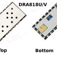 Description des modules UHF et VHF, DRA818U et DRA818V