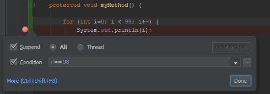 IntelliJ - Add a condition