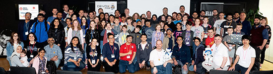 Devoxx4Kids 2018 à Londres - Photo de groupe