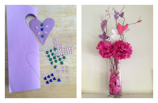 valentine s day diy tissue paper flowers in a vase