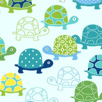 turtle in aqua blue and green