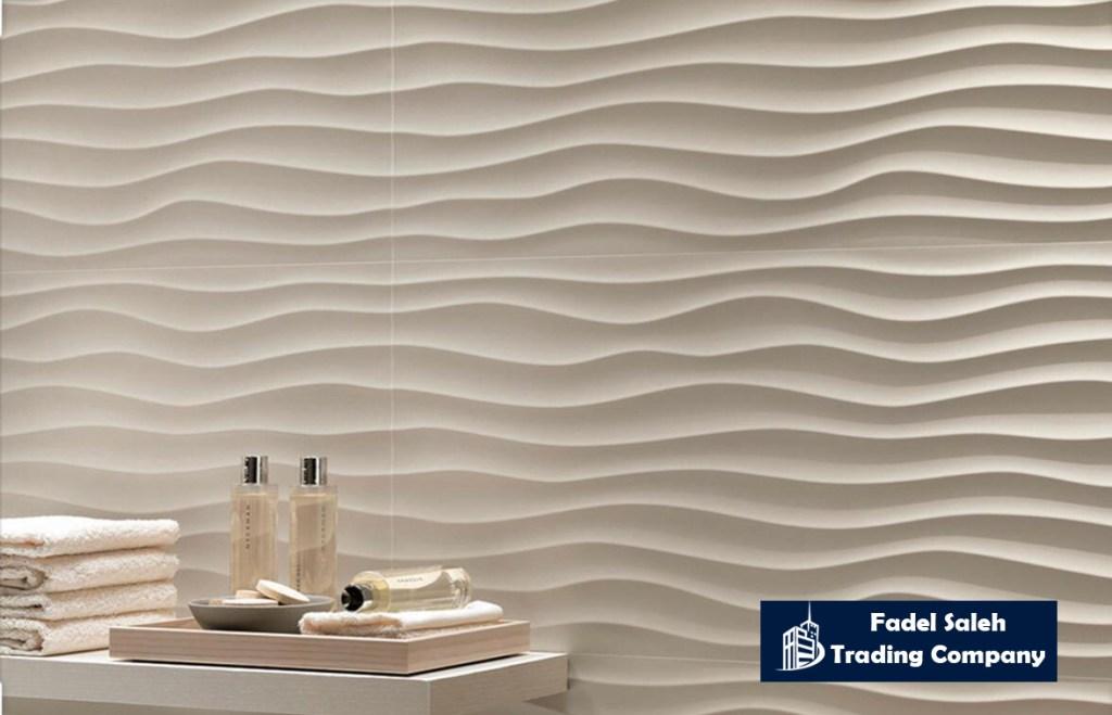 Wavy Bathroom Wall Tiles In Lebanon