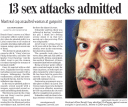 """13 sex attacks admitted"""
