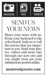"The Gazette: ""Send us your news"""