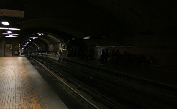 The metro ... after dark?