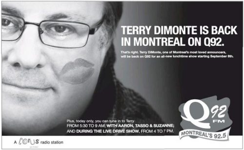 Ad for Terry DiMonte in Monday's Gazette