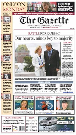 New Monday Gazette front (Sept. 8, 2008)