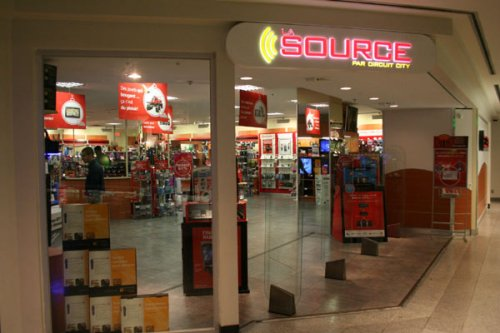 The Source outlets in Canada (including this one in the Eaton Centre downtown) remain open for business