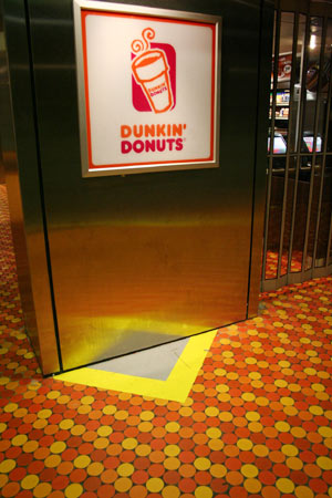 Secret doorway to forbidden donuts?