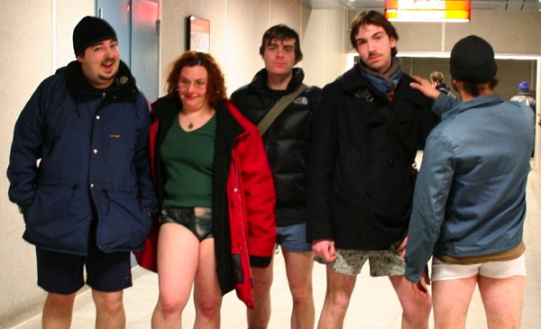 No Pants participants (that's me on the left)