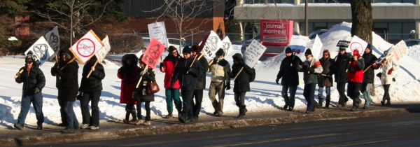 Journal picket line