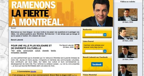 Benoit Labonté's blog has lots of pictures of him