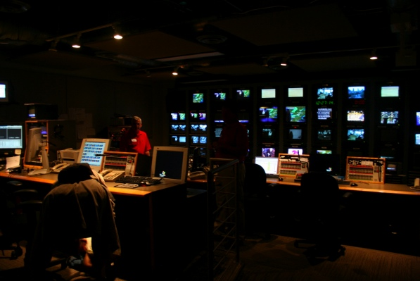 The control room is where the newscast is created.