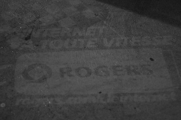 "Rogers ""reverse graffiti"" after application"