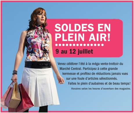Marché Central sidewalk sale