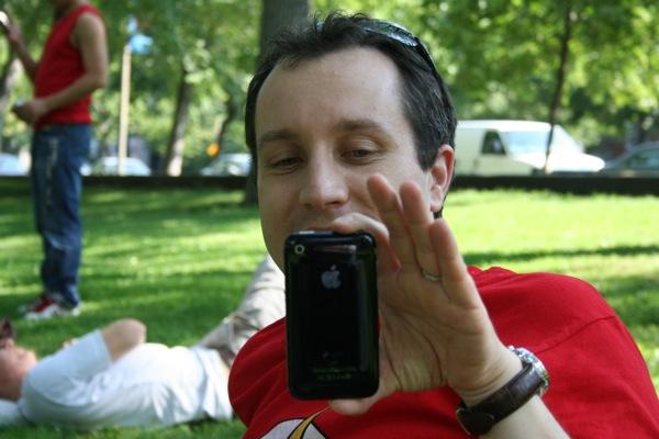 Laurent Maisonnave loves his little iPhone.