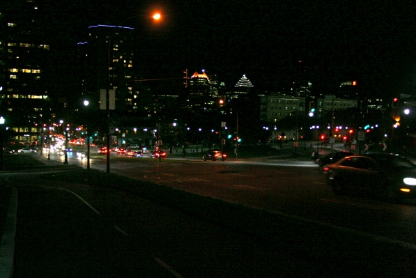 Park and Pine at night