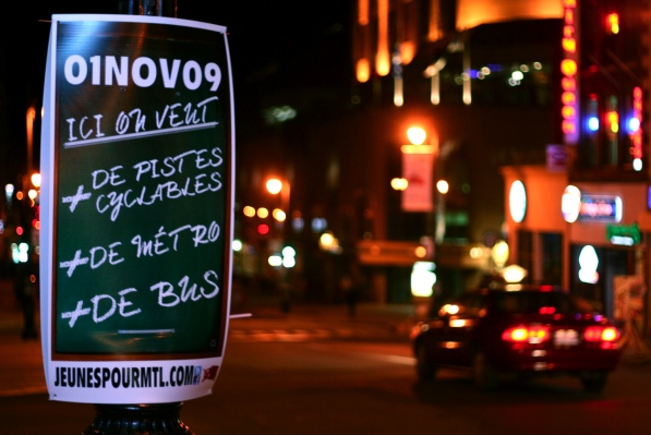 Poster for Jeunes pour Montréal