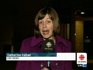 Reporter Catherine Cullen gives a needlessly live report