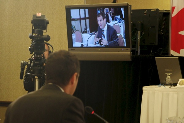Westmount Moving and Warehousing president Joseph Gagnon appears before the CRTC on Wednesday.