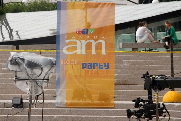 Canada AM block party
