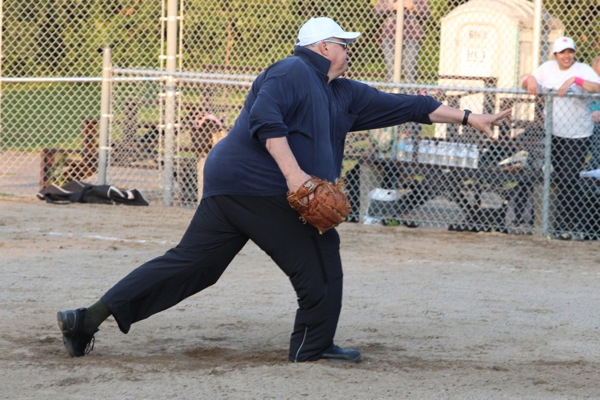 As a CBC radio host, Bernard St-Laurent is an expert at pitching softballs. #OHSNAP