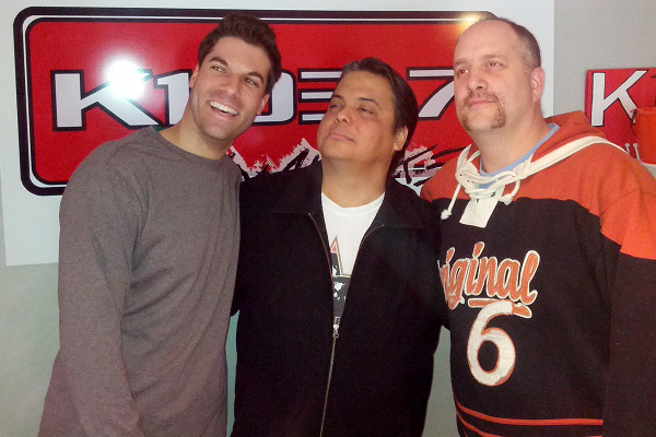 New K103 morning show team, from left: Zack Rath, Lance Delisle, Paul Graif