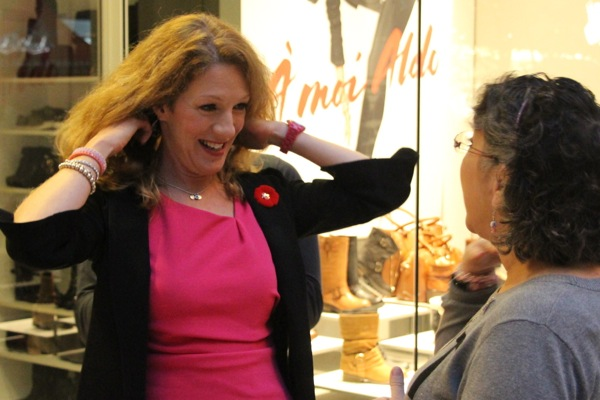 Flipping her hair over a jacket collar isn't something Christine Long is going to have to worry about much longer.