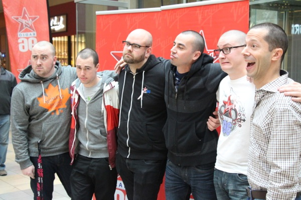 This is what the Virgin Radio guys look like when they're trying to pose cool.