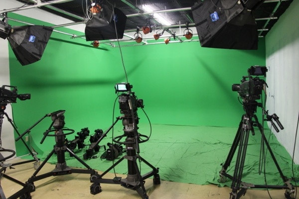 ICI green-screen studio with new HD cameras.