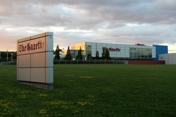 The Gazette printing plant on St-Jacques St. will be decommissioned and the land sold.