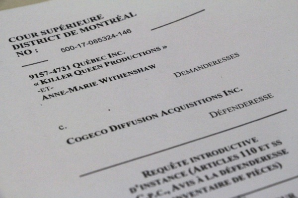 Anne-Marie Withenshaw filed a lawsuit against Cogeco Diffusion in Quebec Superior Court this week.
