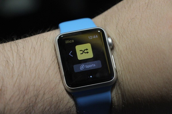 Illico Apple Watch app with shuffle function