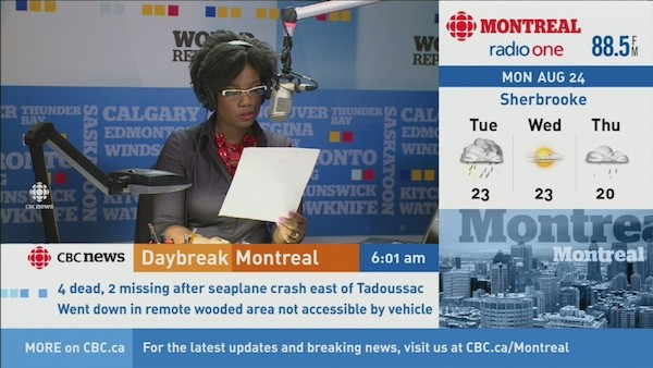 World Report host Marcia Young in Toronto.