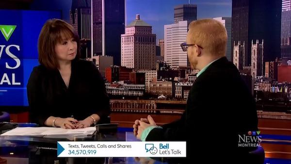 Mutsumi Takahashi interviews Shayne Hawke on CTV Montreal