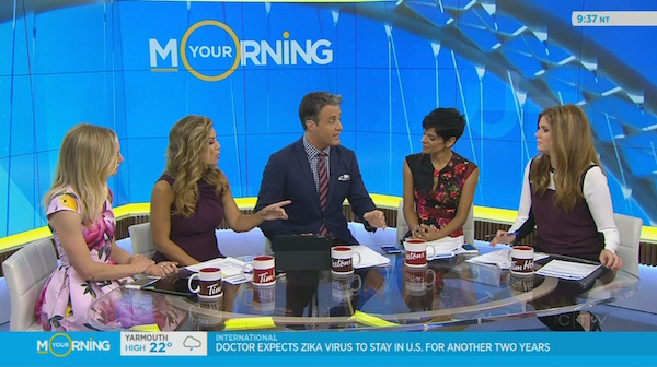 The Your Morning cast do a lot of discussing.