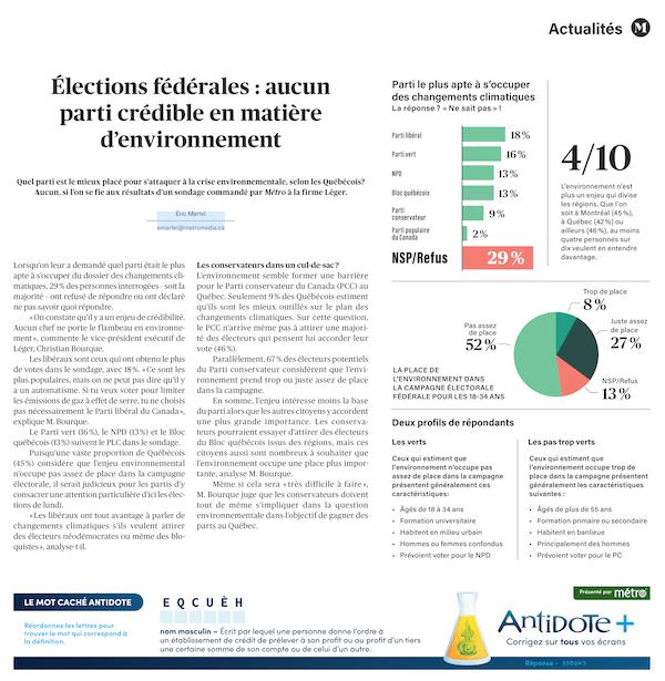 New Métro newspaper layout