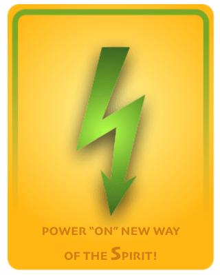 power on the new way Spirit orange green bolt
