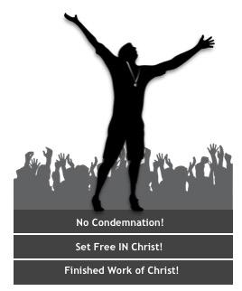 champion exulting finished work of Christ