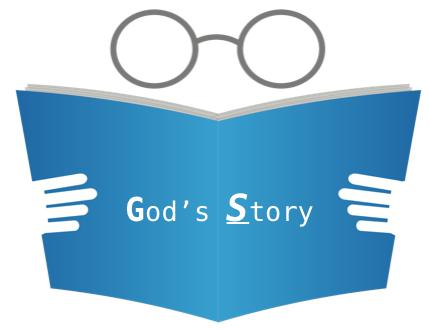 God's Story blue book eye glasses