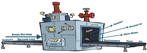 machine factory peace