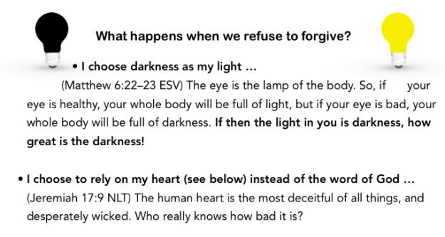 refuse to forgive light bulbs