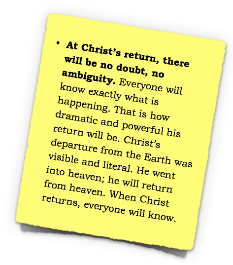 Christ's return no doubt everyone will know