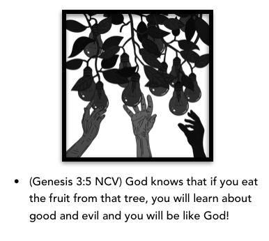 hand reaching fruit Genesis 3-5